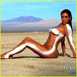 Kim Kardashian Goes Totally Naked for Desert Photo Shoot