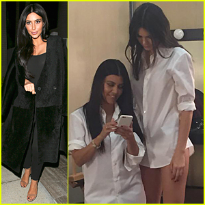 Kim Kardashian Shares Funny Pic of Kendall Jenner Towering Over Kourtney