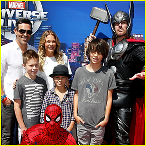LeAnn Rimes Brings Eddie Cibrian & Sons to Marvel Event