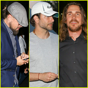 Leonardo DiCaprio, Bradley Cooper, & Christian Bale All Hit Vegas for Floyd Mayweather vs. Manny Pacquiao Fight