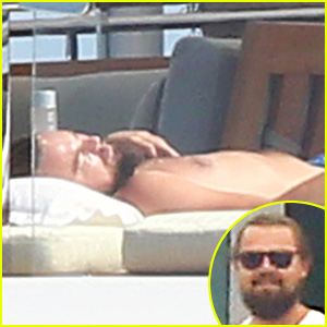 Leonardo DiCaprio Lounges Shirtless on a Yacht in Cannes