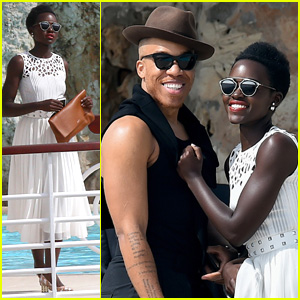 Lupita Nyong'o Hangs With Male Pal at Cannes 2015