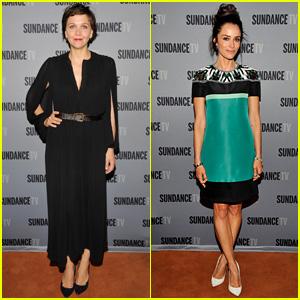 Maggie Gyllenhaal & Abigail Spencer Attend Sundance Panels