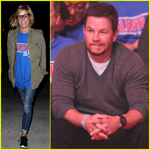 Mark Wahlberg & Julie Bowen Cheer on the Clippers in L.A.