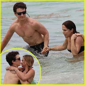 Miles Teller & Girlfriend Keleigh Sperry Pack On the PDA Before Helping a Pregnant Woman in the Ocean