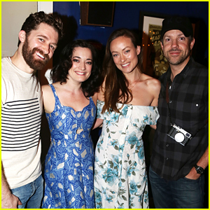 Olivia Wilde & Jason Sudeikis Visit Matthew Morrison at 'Finding Neverland' On Broadway