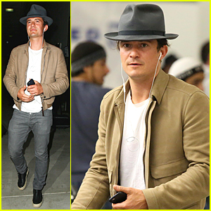 Orlando Bloom Jets Back to Los Angeles After Three Weeks Away