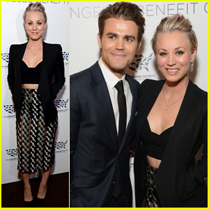 Paul Wesley & Kaley Cuoco Speak at Humane Society Gala