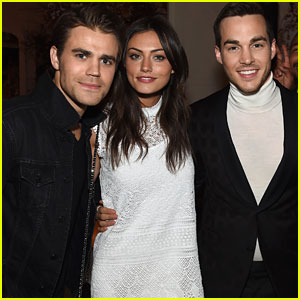 Paul Wesley & Phoebe Tonkin Couple Up For CW Upfront Party In NYC