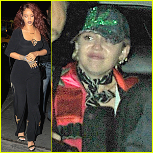 Rihanna & Miley Cyrus Hit Up & Down Night Club