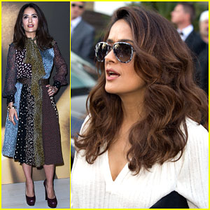 Salma Hayek Rocks Two Great Looks in One Day