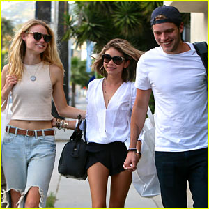 Sarah Hyland & Dominic Sherwood Have a 'Vampire Academy' Reunion with Lucy Fry!
