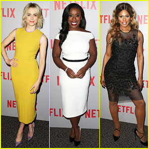Taylor Schilling, Uzo Aduba, & Laverne Cox Step Out In Style to Celebrate 'OITNB' Season 3!