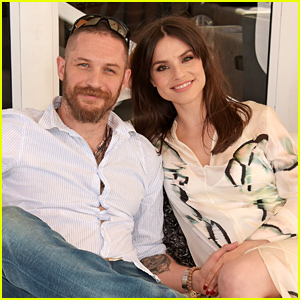 Tom Hardy & Wife Charlotte Riley Cozy Up While Watching Prince Harry Play Polo!