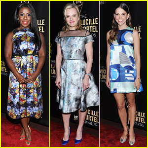 Uzo Aduba, Elisabeth Moss, & Sutton Foster Brighten Up the Lucille Lortel Awards 2015!