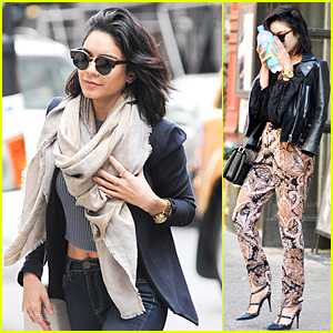 Vanessa Hudgens Is All Bundled Up, But Can Still Flash Some Midriff!