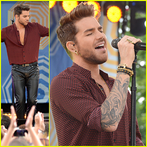 Adam Lambert Brings 'Ghost Town' To Central Park For 'Good Morning America'
