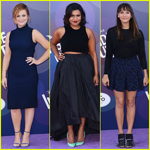 Amy Poehler, Mindy Kaling & Rashida Jones Color Coordinate at 'Inside Out' Premiere!