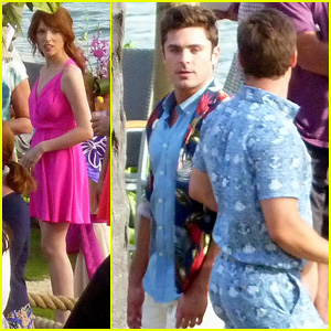 Zac Efron Continues 'Mike and Dave Need Wedding Dates' Filming With Anna Kendrick in Hawaii