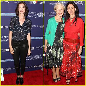 Anne Hathaway & Helen Mirren Support Julie Taymor's 'Midsummer Night's Dream'