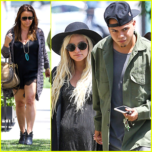 Ashlee Simpson Steps Out with Mom Tina After Engagement