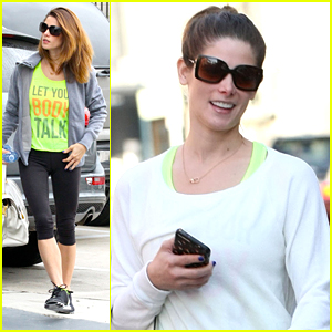 Ashley Greene Wears All White For The Gym Before Grabbing Groceries