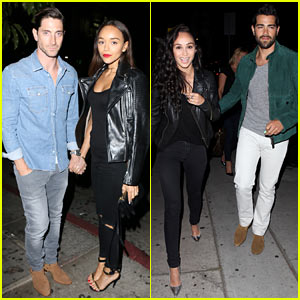Ashley Madekwe & Cara Santana Double Date with Their Men!