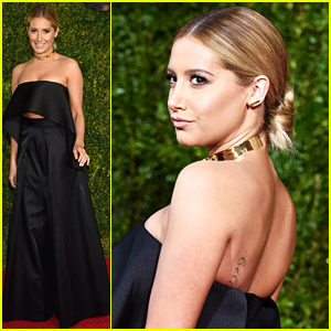 Ashley Tisdale Wears Chic Pant Suit To Tony Awards 2015
