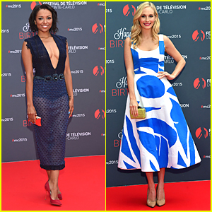 Kat Graham & Candice Accola Celebrate 55 Years Of the Monte Carlo TV Festival
