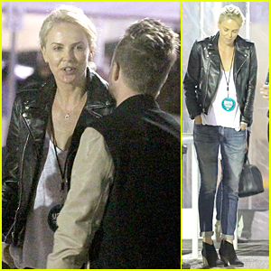 Charlize Theron & Aaron Paul Chat It Up at U2 Concert in Los Angeles