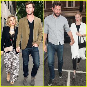 Chris Hemsworth & Elsa Pataky Make it a Double Date in London With John Krainski & Emily Blunt!