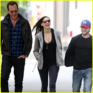 Daniel Radcliffe & Will Arnett Catch Up In New York City With Erin Darke