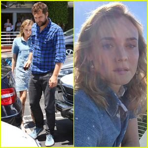Diane Kruger & Joshua Jackson Grab Lunch After Spending Time in the Countryside