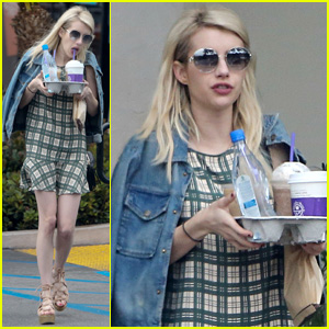 Emma Roberts Emerges After Ending Engagement to Evan Peters