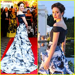 Emmy Rossum Says Carolina Herrera Is 'Fashion Fairy Godmother'