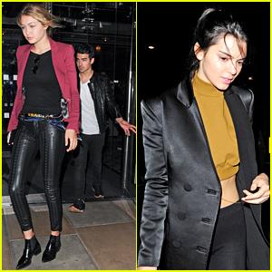 Gigi Hadid & Boyfriend Joe Jonas Party in London with Kendall Jenner!