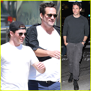 James Marsden & Josh Hopkins Hang Out With Two Mystery Ladies