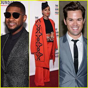 Janelle Monae & Andrew Rannells Help Honor Usher at Gordon Parks Foundation Awards Dinner 2015!