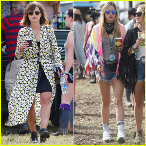 Jenna Coleman & Suki Waterhouse Hit Up Glastonbury Festival