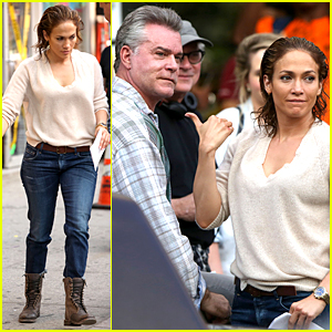 Jennifer Lopez Draws Attention to Ray Liotta on 'Shades of Blue' Set