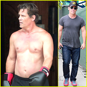 Josh Brolin Goes Shirtless During Boxing Workout in Santa Monica