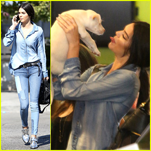 Did Kendall Jenner Just Adopt a Super Cute Puppy?