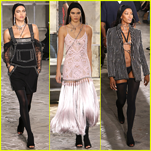 Kendall Jenner & Irina Shayk Own The Runway at Givenchy Men's Fashion Show in Paris