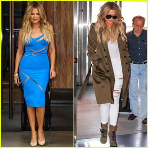 Khloe Kardashian Does Promo Work Before Kim Kardashian's Pregnancy Announcement