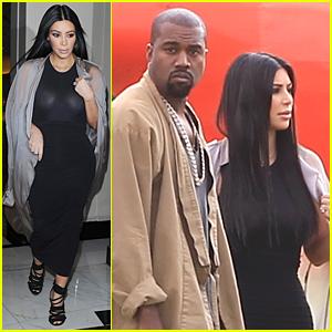 Kim Kardashian Goes Braless & Sheer For Glastonbury Festival With Kanye West