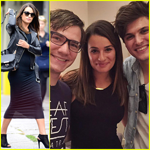 Lea Michele Catches Performance of Deaf West's 'Spring Awakening' & Meets The Cast!
