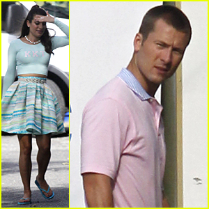 Lea Michele Teases 'Super Scary' Scene With Glen Powell For 'Scream Queens'