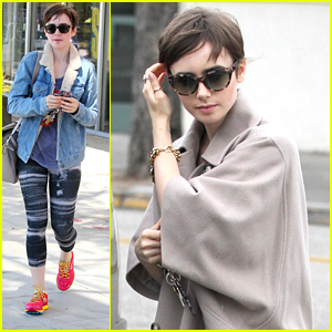 Lily Collins Enjoys Dinner At Craig's After Business Meetings