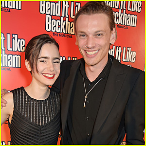 Lily Collins & Jamie Campell Bower Are a Cute Couple at the 'Bend It Like Beckham' Afterparty