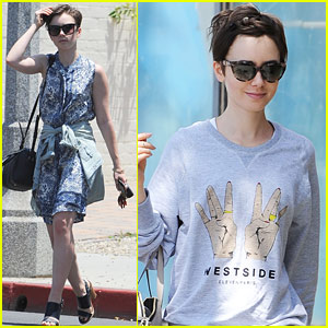Lily Collins Gets Colorful at Los Angeles Pride